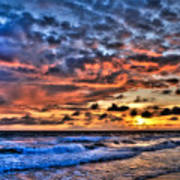 Barefoot Beach Sunset Art Print