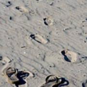 Barefootin Art Print