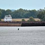 Barge On Tennessee River At Shiloh National Military Park Art Print