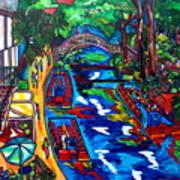 Barges On The Riverwalk Art Print