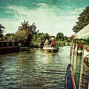 10946 Cruising On The Grand Union Canal Art Print