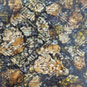 Bark Batik Ink #22 Art Print