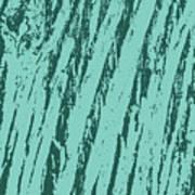 Bark Texture Turquoise Art Print