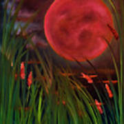 Barley Spike Moon Art Print