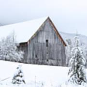 Barn After Snow Art Print