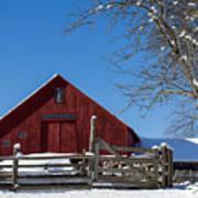 Barn And Blue Sky Art Print