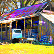 Barn And Truck Art Print