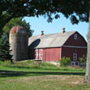 Barn At Leroy Oaks Art Print