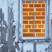 Barn Brick Window Art Print