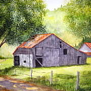 Barn By The Road Art Print