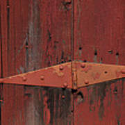 Barn Hinge Art Print by Garry Gay