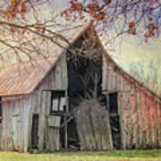 Barn Of The Indian Summer Art Print