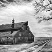 Barn In Black And White Art Print