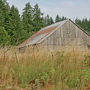 Barn In Oregon Art Print