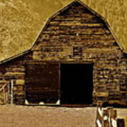 Barn In Sepia Art Print