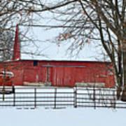 Barn In The Winter Art Print