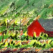 Barn In Vineyard Art Print