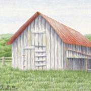 Barn Near Forest Art Print