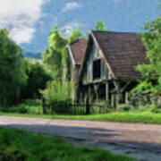 Barn Near Lac De Panthier - P4a160017 Art Print