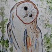 Barn Own Impressionistic Painting Art Print