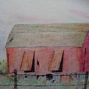 Barn The Red Art Print