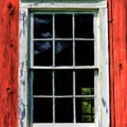 Barn Window Closeup At Old World Wisconsin Art Print
