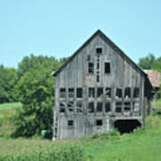 Barn With Chickens In Window Art Print