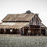 Barn With Outhouse Art Print