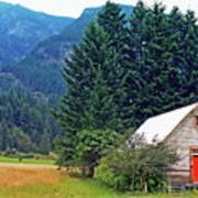 Barn With Red Door Art Print