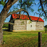Barn With Red Metal Roof Art Print