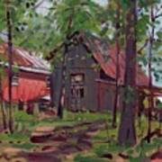 Barns In April Art Print