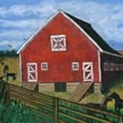 Barnyard On The Prairie Art Print