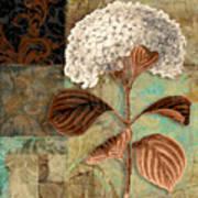 Baroque Hydrangea Patchwork Art Print