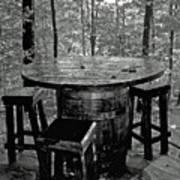 Barrel In The Woods Art Print