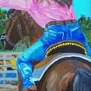 Barrel Rider Art Print