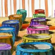 Barrels Of Color Art Print
