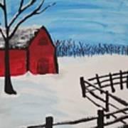 Barren Barn Art Print