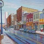 Barrington St In Winter Art Print