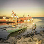 Barriquant Dock Under Sunset  Art Print