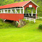 Barron's Covered Bridge Art Print