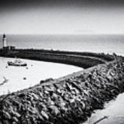 Barry Island Breakwater Film Noir Art Print