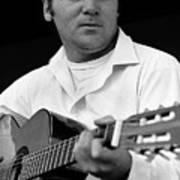 Barry Sadler With Guitar 3 Tucson Arizona 1971 Art Print