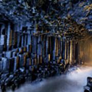 Basalt Pillars Line Fingals Cave Art Print