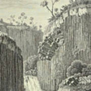Basalt Rocks And The Cascade De Regla, Art Print