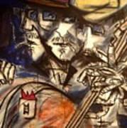 Base Boys   Men With Hats Art Print
