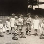 Baseball: Boys And Girls Art Print by Granger