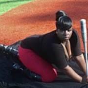 Baseball Girl 3 Art Print