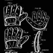 Baseball Glove Patent 1910 In Black Art Print