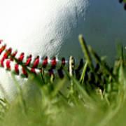 Baseball In Grass Art Print