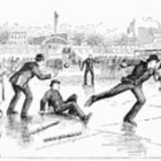 Baseball On Ice, 1884 Art Print by Granger